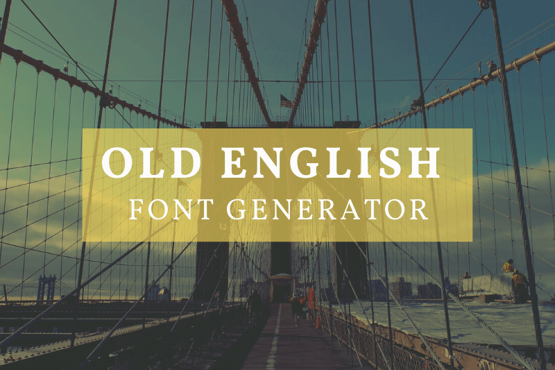 old english font generator