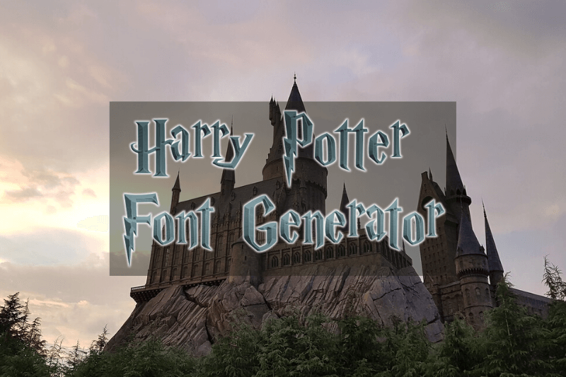 Harry Potter Font Generator