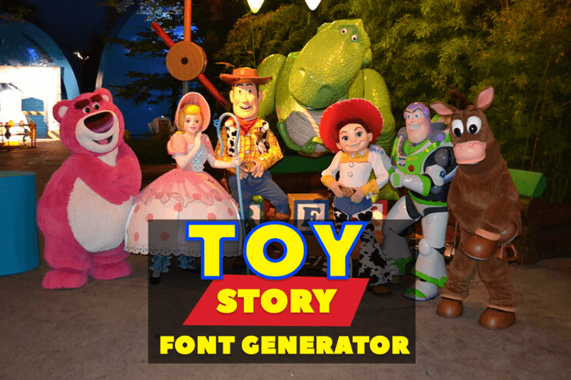 toy story font generator