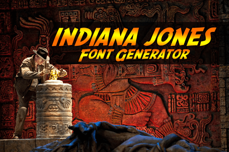 indiana jones font generator