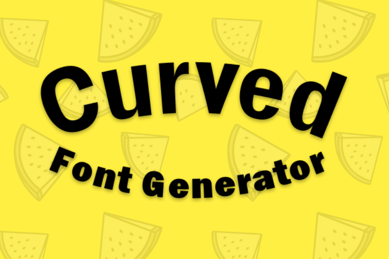curved font generator