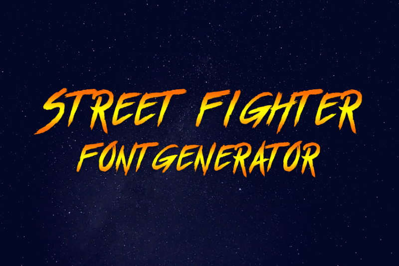 street fighter font generator