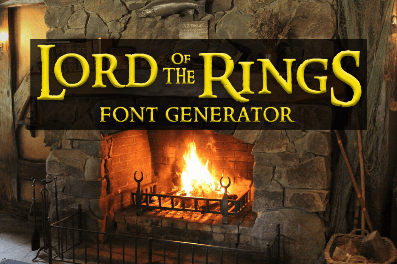 lord of the rings font generator
