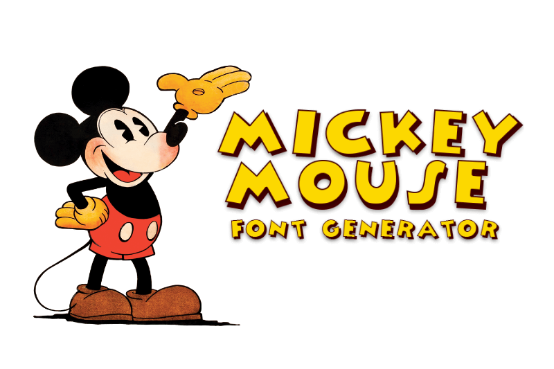 mickey mouse font generator