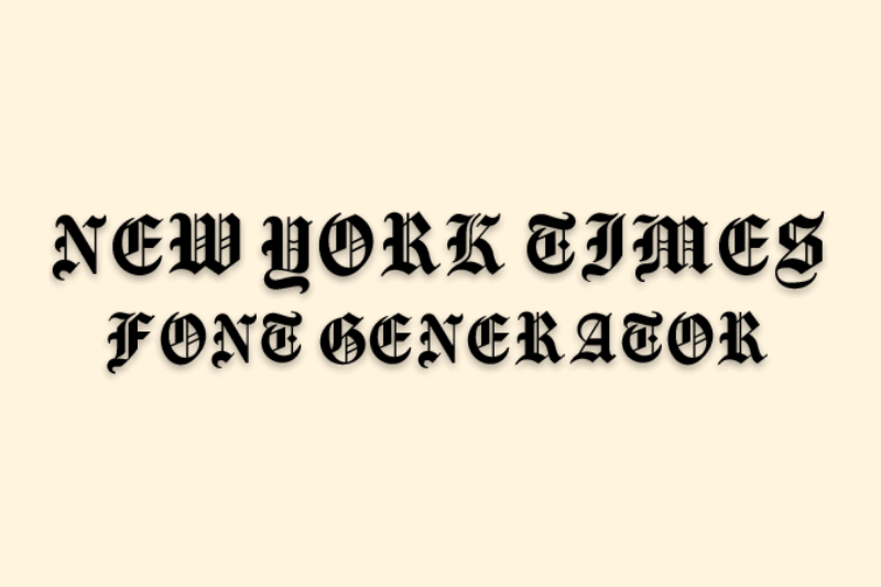 new york times font generator
