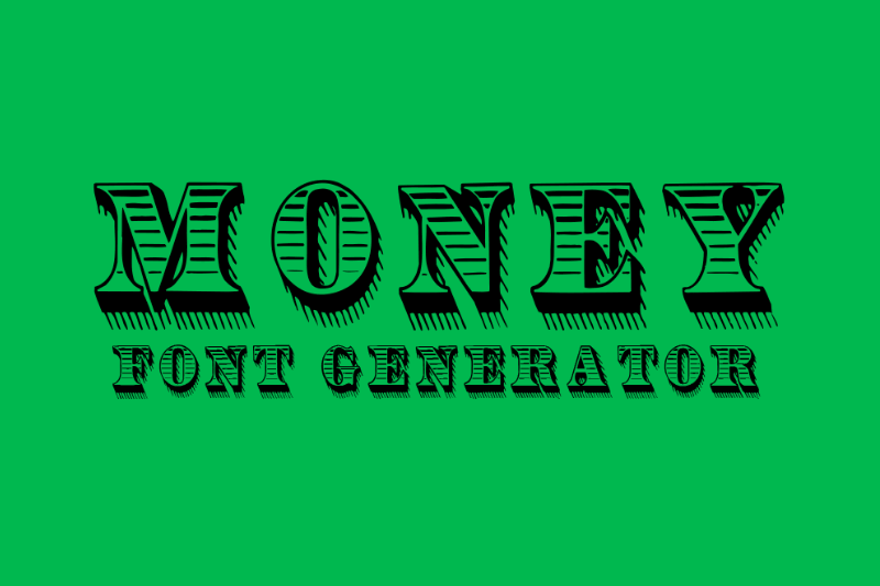 money font generator