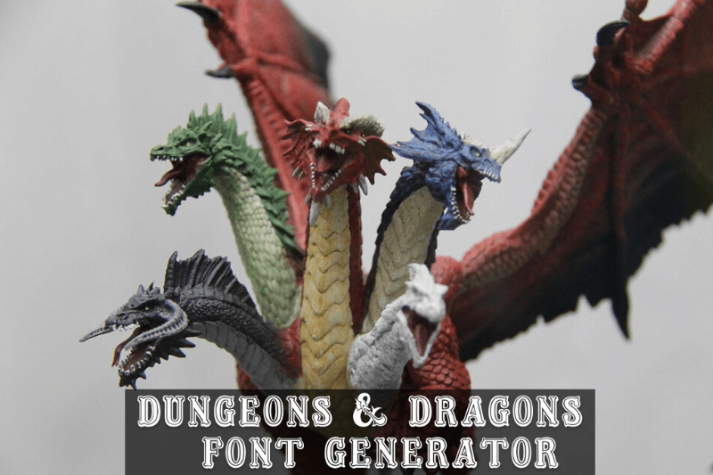 dungeons and dragons font generator