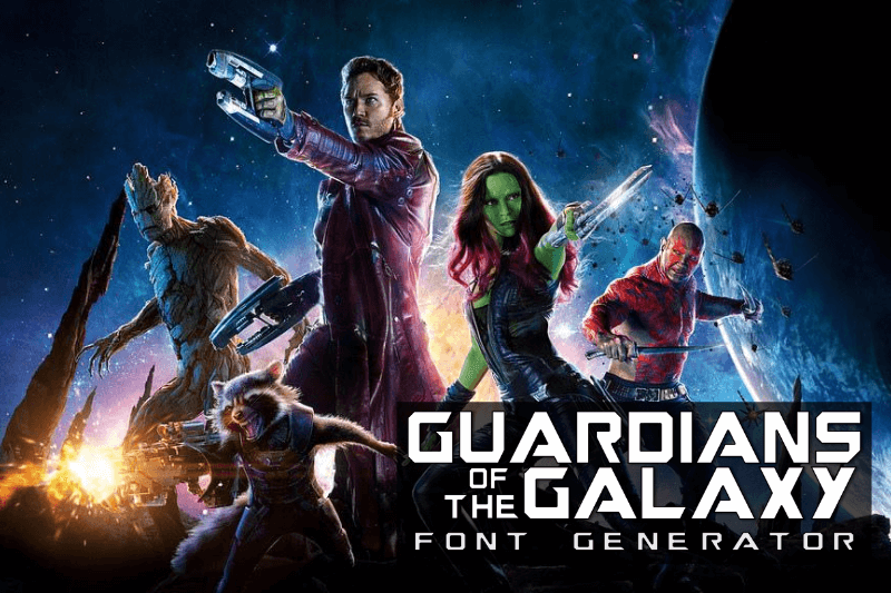guardians of the galaxy font generator