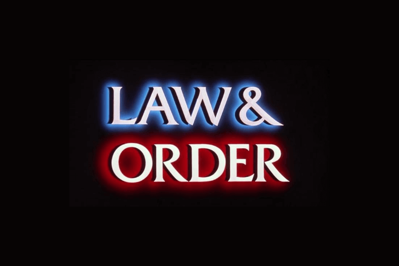 law and order font generator