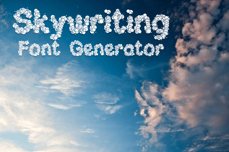 skywriting font generator