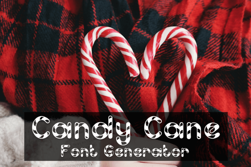 candy cane font generator