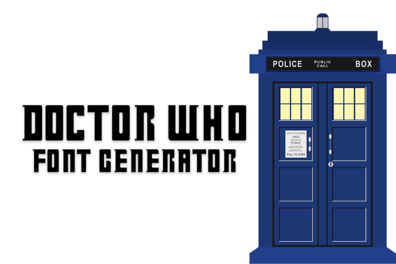 doctor who font generator