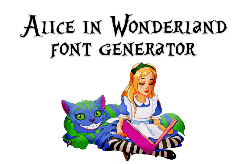alice in wonderland font generator