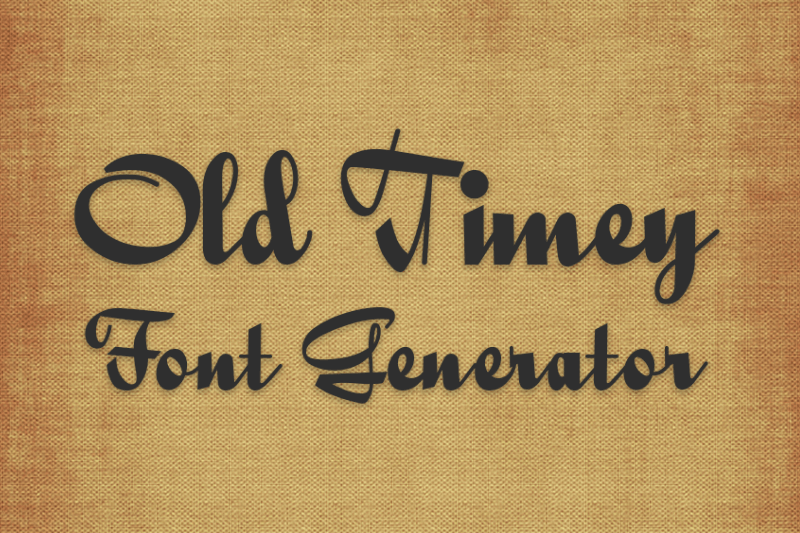 old timey font generator