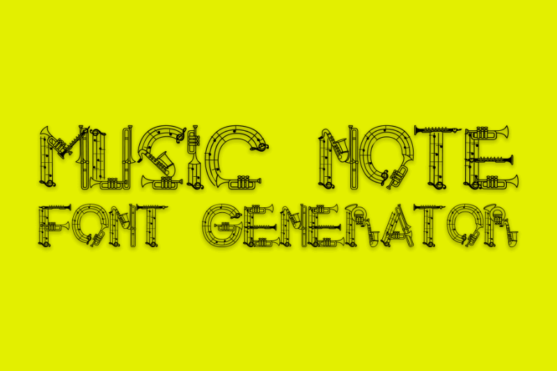 music note font generator