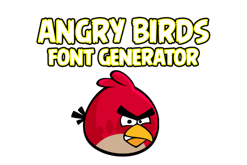 angry birds font generator