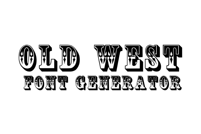 old west font generator