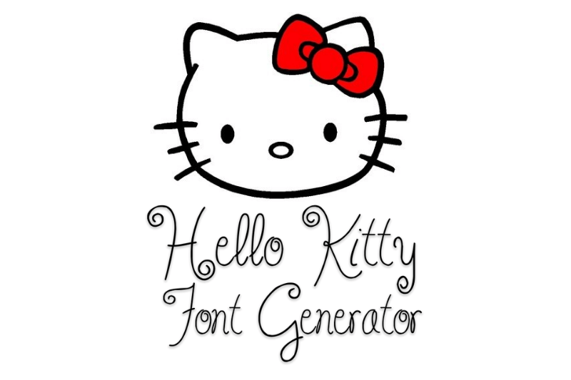 hello kitty font generator